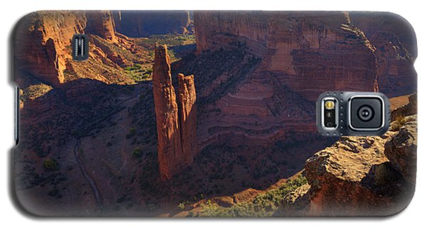 Galaxy S5 Case featuring the photograph Spider Rock Sunrise by Alan Vance Ley