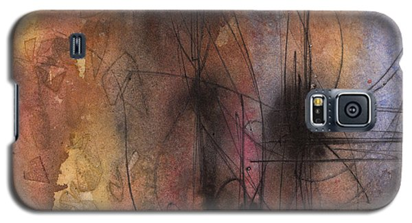 Galaxy S5 Case featuring the painting Spider Smush by Rebecca Davis