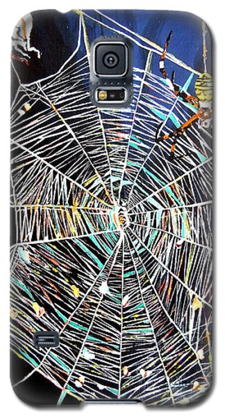 Galaxy S5 Case featuring the painting Spider Web by Daniel Janda
