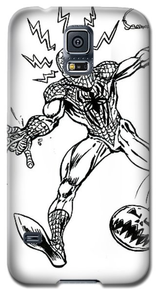 Spidey Dodges A Pumpkin Bomb Galaxy S5 Case