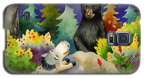 Spike The Dhog Encounters A Mother Bear In The Forest Galaxy S5 Case