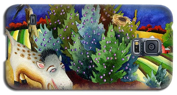 Spike The Dhog Meets A Magpie Galaxy S5 Case by Anne Gifford