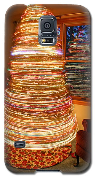 Spinning Christmas Tree Galaxy S5 Case by Barbara West