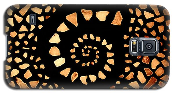 Galaxy S5 Case featuring the mixed media Spiral by Kjirsten Collier