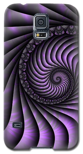 Spiral Purple And Grey Galaxy S5 Case