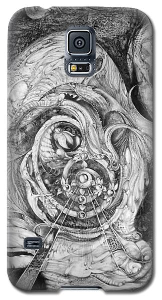 Galaxy S5 Case featuring the painting Spiral Rapture 2 by Otto Rapp