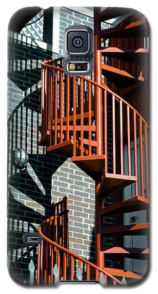 Spiral Stairs - Color Galaxy S5 Case by Darryl Dalton