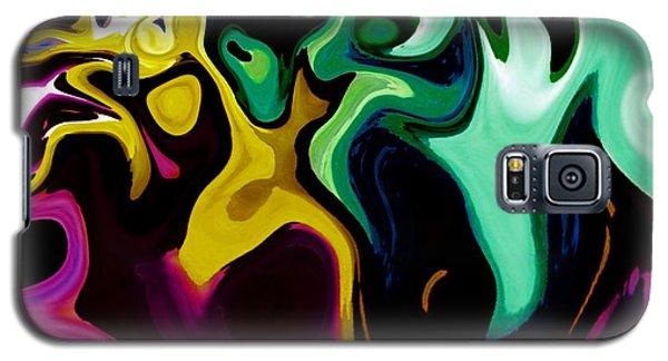 Galaxy S5 Case featuring the digital art Spirit Dance An Abstract Modern Contemporary Digital Art by Annie Zeno