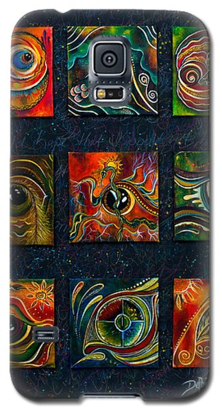 Galaxy S5 Case featuring the painting Spirit Eye Collection I by Deborha Kerr