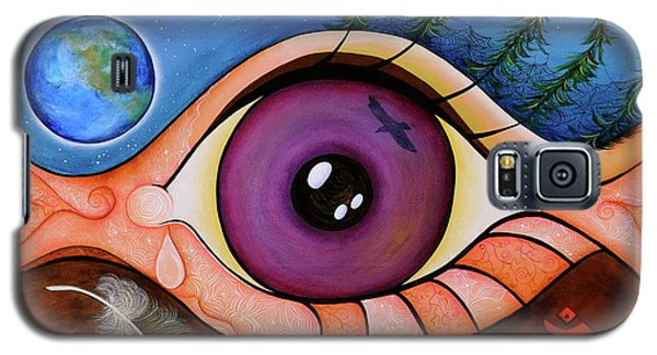 Galaxy S5 Case featuring the painting Spirit Eye by Deborha Kerr