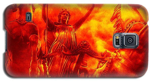 Galaxy S5 Case featuring the photograph Spirit Of Boudica Rising by Nigel Fletcher-Jones
