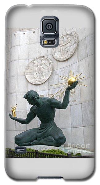 Spirit Of Detroit Monument Galaxy S5 Case by Ann Horn