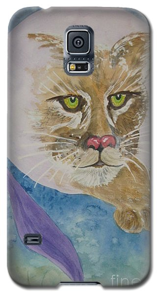 Galaxy S5 Case featuring the painting Spirit Of The Mountain Lion by Ellen Levinson