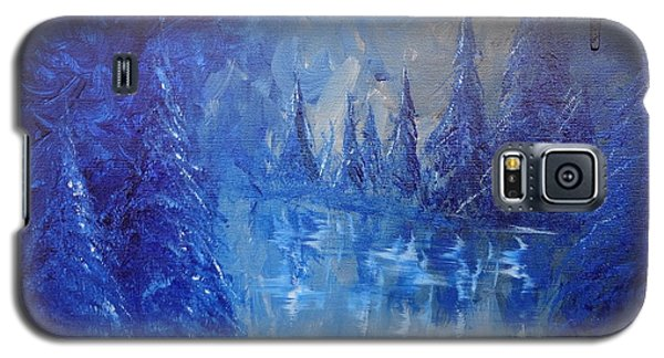 Galaxy S5 Case featuring the painting Spirit Pond by Jacqueline Athmann