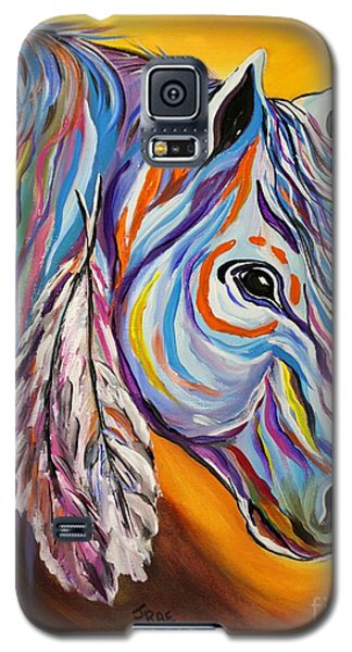 Galaxy S5 Case featuring the painting 'spirit' War Horse by Janice Rae Pariza