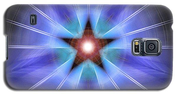 Galaxy S5 Case featuring the drawing Spiritual Pulsar by Derek Gedney