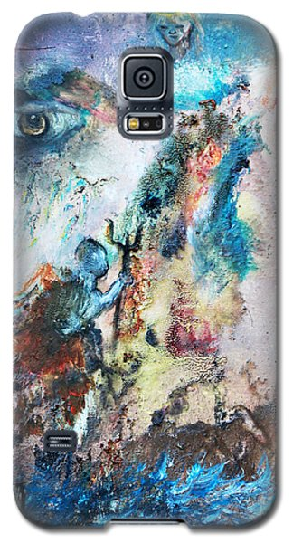 Galaxy S5 Case featuring the painting Spiritual Warfare by Ayasha Loya