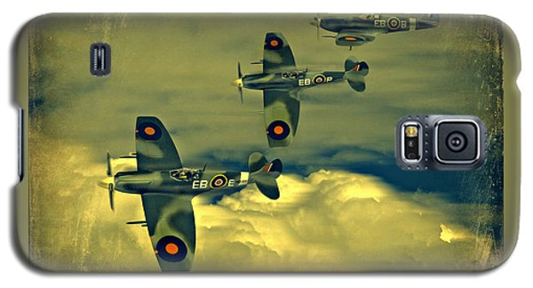 Galaxy S5 Case featuring the photograph Spitfire Flight by Steven Agius