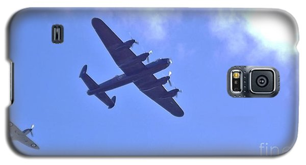 Galaxy S5 Case featuring the photograph Spitfire  Lancaster Bomber by John Williams