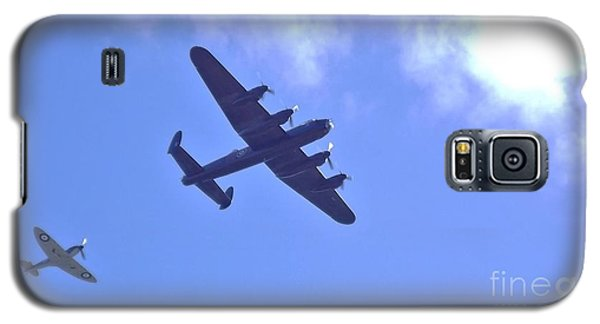 Spitfire  Lancaster Bomber Galaxy S5 Case by John Williams