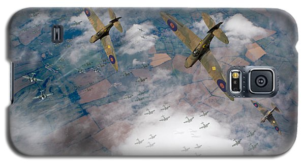 Raf Spitfires Swoop On Heinkels In Battle Of Britain Galaxy S5 Case by Gary Eason