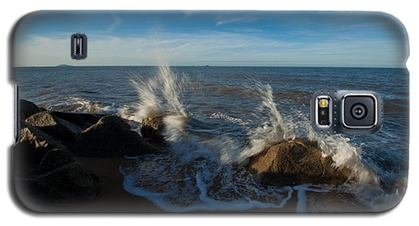 Galaxy S5 Case featuring the photograph Splash On Rocks by Carole Hinding
