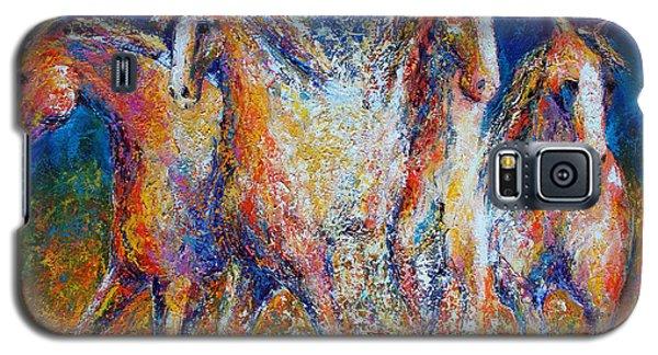 Galaxy S5 Case featuring the painting Splashing Gallop by Jennifer Godshalk