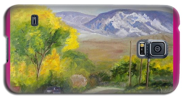 Galaxy S5 Case featuring the painting Split Mountain On Golf Course Road by Sherril Porter