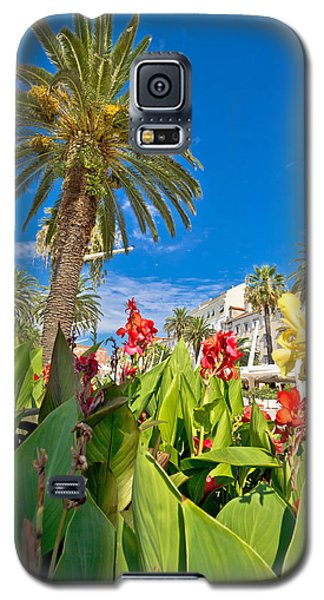 Split Riva Palms And Flowers Galaxy S5 Case