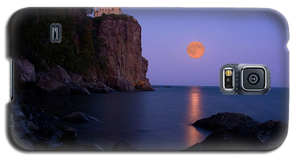 Split Rock Lighthouse - Full Moon Galaxy S5 Case