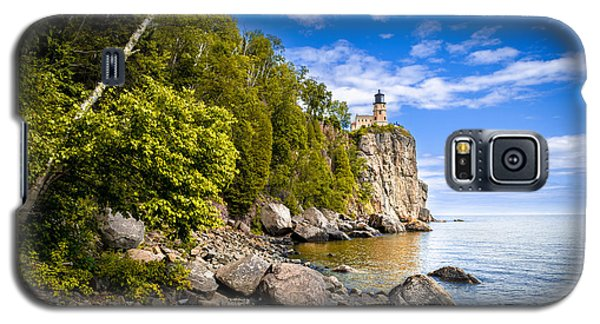 Galaxy S5 Case featuring the photograph Split Rock Shoreline by Mark David Zahn
