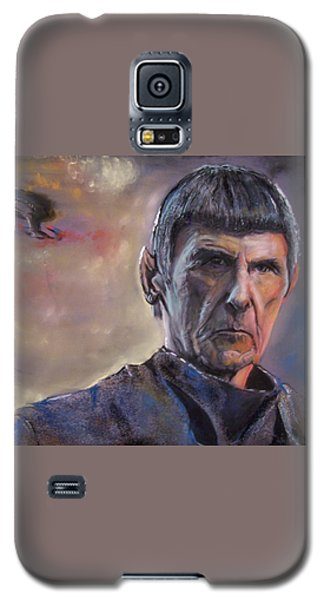 Galaxy S5 Case featuring the mixed media Spock by Peter Suhocke