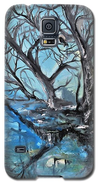 Galaxy S5 Case featuring the painting Spooky Mood by Evelina Popilian