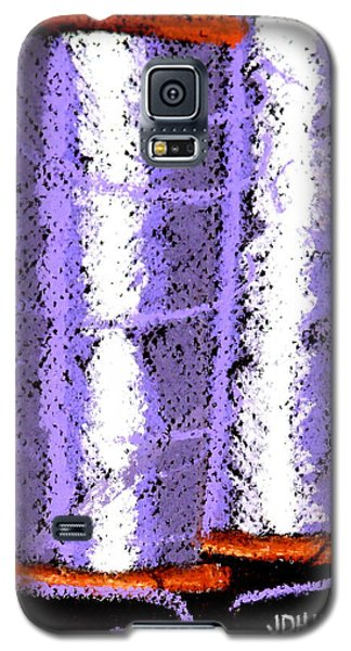 Galaxy S5 Case featuring the drawing Spools Of Thread Purple 1 by Joseph Hawkins