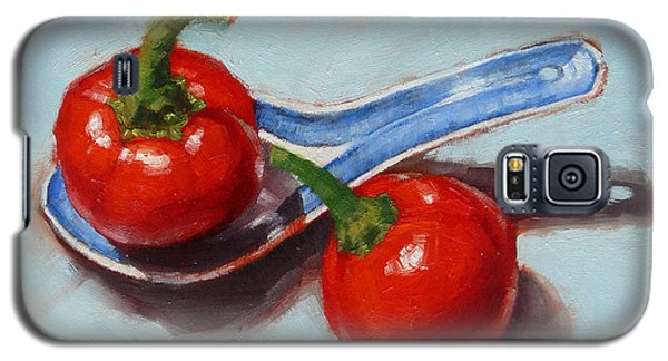 Galaxy S5 Case featuring the painting Spoonful Of Chilli by Margaret Stockdale