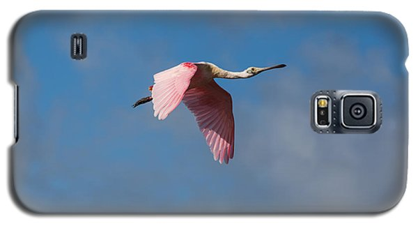 Galaxy S5 Case featuring the photograph Spoonie In Flight by John M Bailey