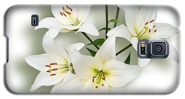 Galaxy S5 Case featuring the photograph Spray Of White Lilies by Jane McIlroy