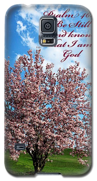 Spring Blossoms With Scripture Galaxy S5 Case