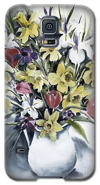 Galaxy S5 Case featuring the painting Spring Bouquet by Joan Hartenstein