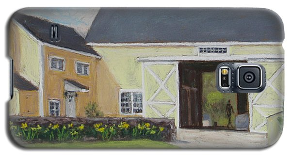 Galaxy S5 Case featuring the painting Spring Chores by Vikki Bouffard