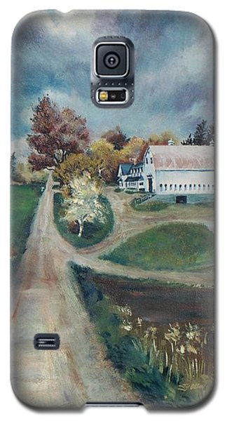 Galaxy S5 Case featuring the painting Spring Farm by Joy Nichols