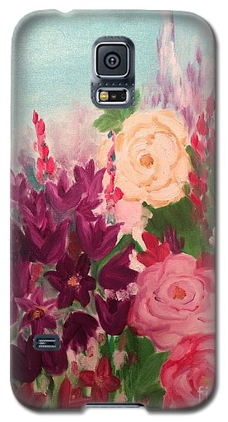 Galaxy S5 Case featuring the painting Spring Flowers by Brindha Naveen