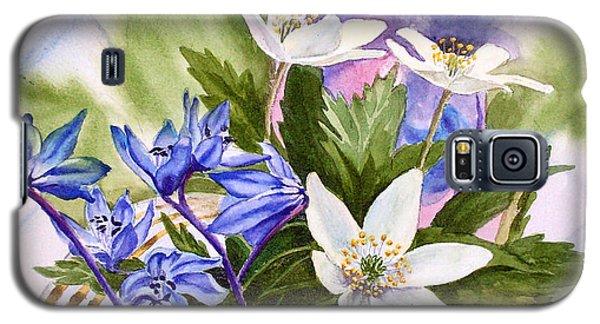 Galaxy S5 Case featuring the painting Spring Flowers by Irina Sztukowski