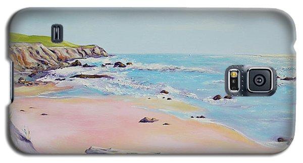 Spring Hills And Seashore At Bowling Ball Beach Galaxy S5 Case by Asha Carolyn Young