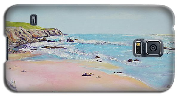 Galaxy S5 Case featuring the painting Spring Hills And Seashore At Bowling Ball Beach by Asha Carolyn Young