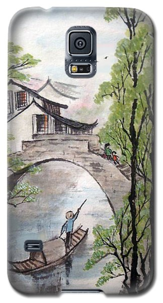 Spring In Ancient Watertown Galaxy S5 Case by Yufeng Wang