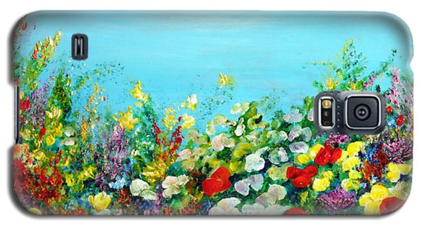 Galaxy S5 Case featuring the painting Spring In The Garden by Teresa Wegrzyn
