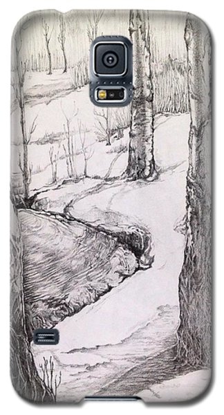 Galaxy S5 Case featuring the drawing Spring by Iya Carson