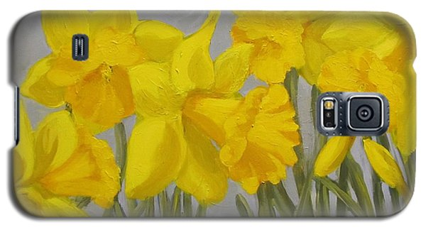 Galaxy S5 Case featuring the painting Spring by Karen Ilari
