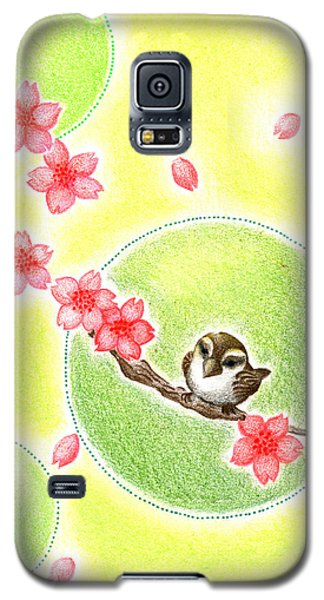 Galaxy S5 Case featuring the drawing Spring by Keiko Katsuta